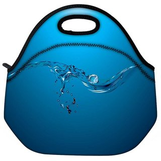 Water Drops Travel Outdoor Tote Lunch Bag