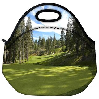 Snoogg Green Park For Golf Travel Outdoor Tote Lunch Bag