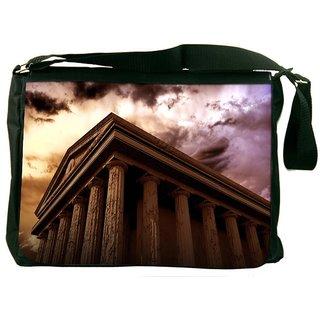 Ancient Temple Designer Laptop Messenger Bag