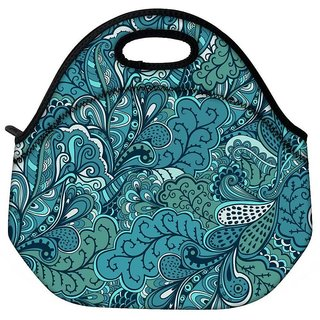 Abstract Green Leaves Travel Outdoor CTote Lunch Bag