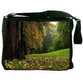 Green Garden Dense Forest Digitally Printed Laptop Messenger  Bag