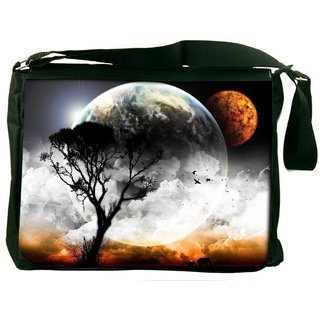 Amazing Evening Curse Digitally Printed Laptop Messenger  Bag