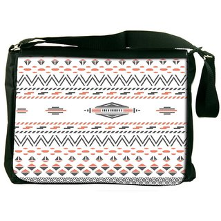 Minimal Zoyd Aztec Designer Laptop Messenger Bag