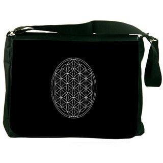 One Flower Of Life Sacred Geometry Digitally Printed Laptop Messenger  Bag