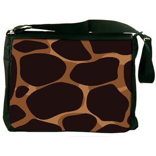 Giraffe Skin Digitally Printed Laptop Messenger  Bag