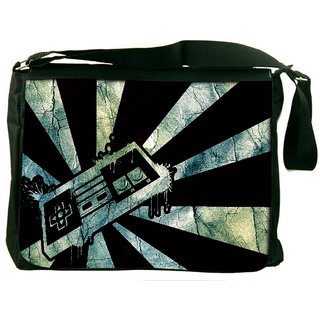Joysticks Digitally Printed Laptop Messenger  Bag