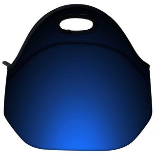 Glowing Blue Design Travel Outdoor Tote Lunch Bag