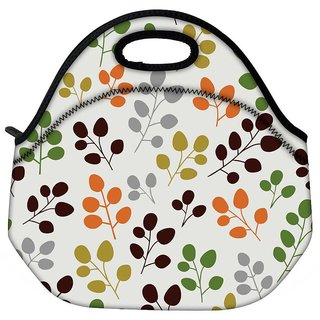 Multicolor Leaves Travel Outdoor CTote Lunch Bag
