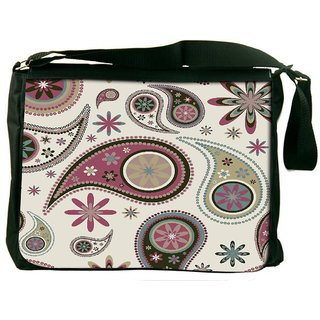 Dark Green Pattern Digitally Printed Laptop Messenger  Bag