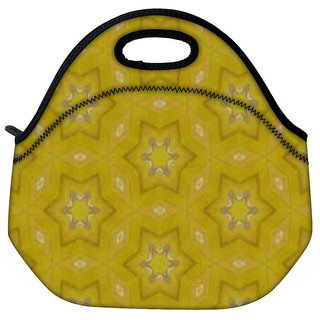 Small Stars Yellow Travel Outdoor CTote Lunch Bag