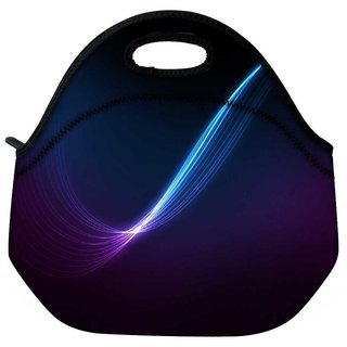 Blue And Purple Ray In Black Background Travel Outdoor Tote Lunch Bag