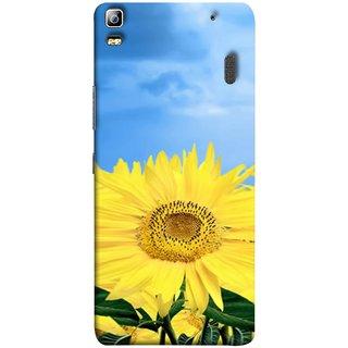 FUSON Designer Back Case Cover For Lenovo K3 Note :: Lenovo A7000 Turbo (Field With Bright Blue Sky Summer Sunlight Leaves)