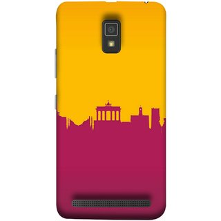 FUSON Designer Back Case Cover For Lenovo A6600 (Astounding Skyscrapers Of Remarkable Architectural)