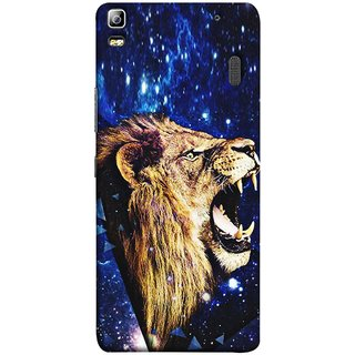 FUSON Designer Back Case Cover For Lenovo K3 Note :: Lenovo A7000 Turbo (Wallpaper Abstract Grunge Whiskers Sharp Teeth )