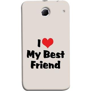FUSON Designer Back Case Cover For Lenovo K880 (Lover True And Pure Friendship Day Hearts Forever)