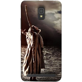 FUSON Designer Back Case Cover For Lenovo A6600 (Excited Old Young Man On Beach Full Of Clouds )