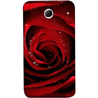 FUSON Designer Back Case Cover For Lenovo K880 (Closeup Of Red Rose With Sprinkled With Water Droplets)