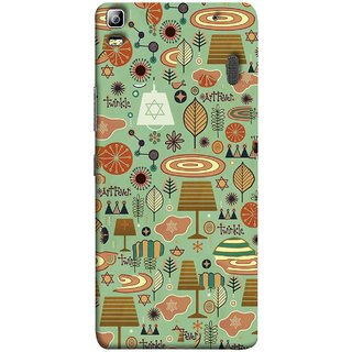 FUSON Designer Back Case Cover For Lenovo K3 Note :: Lenovo A7000 Turbo (Retro Summer Village Vector Artwork Unique Designs)