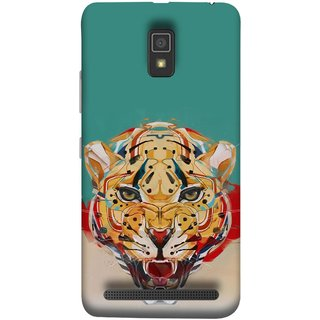 FUSON Designer Back Case Cover For Lenovo A6600 (Multicolour Tigers Leopard Perfect Look King Night Tree)