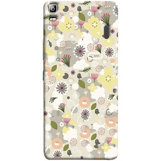FUSON Designer Back Case Cover For Lenovo K3 Note :: Lenovo A7000 Turbo (Elegant Gentle Trendy Pattern In Small Scale Flower)