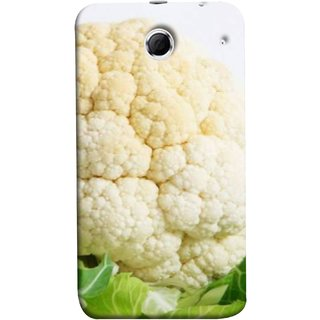 FUSON Designer Back Case Cover For Lenovo K880 (Organic Cauliflower Background Table Farmer Subji)