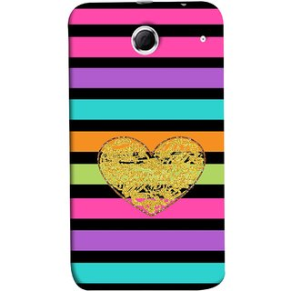 FUSON Designer Back Case Cover For Lenovo K880 (Sprinkle Gold Glitter Heart Flag Hearts Valentine)