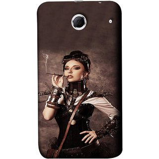 FUSON Designer Back Case Cover For Lenovo K880 (Mad Men Beauty Moments Betty Draper Smoking )