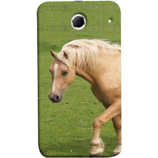 FUSON Designer Back Case Cover For Lenovo K880 (White Horse In The Park On The Green Grass)