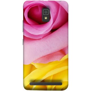 FUSON Designer Back Case Cover For Lenovo A6600 (Pink Red Baby Yellow Shades Friendship Flowers Roses)