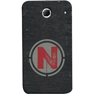 FUSON Designer Back Case Cover For Lenovo K880 (N Is Ok Initial Red Glossy Round Icon N Random Red)