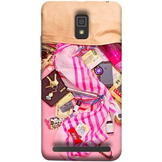 FUSON Designer Back Case Cover For Lenovo A6600 (Iphone Larabar Key Chains Money Notes Shampoo)