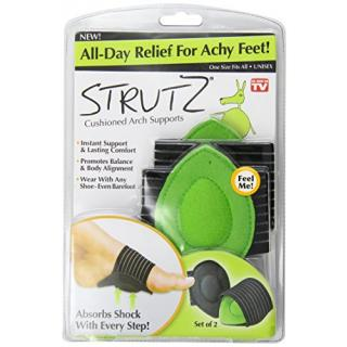 Strutz Cushioned Arch Supports Green 2 Count