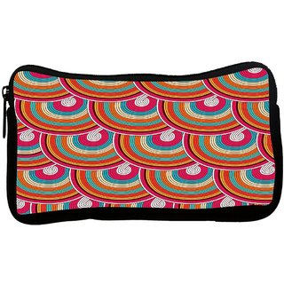 Mixed Colors Pattern Poly Canvas S Multi Utility Travel Pouch
