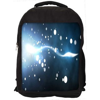 White Small Bubbles Digitally Printed Laptop Backpack