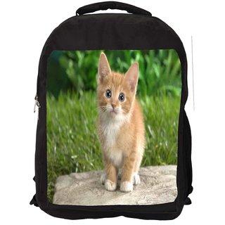 Cute Cat Digitally Printed Laptop Backpack