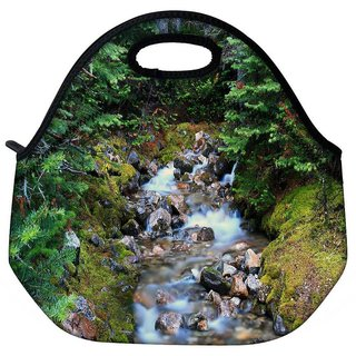 White Water Flowing Travel Outdoor Tote Lunch Bag