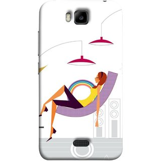 FUSON Designer Back Case Cover For Huawei Honor Bee :: Huawei Honor Bee Y5c (Office Lights Shoes Mordern Speakers Beauty Parlor)