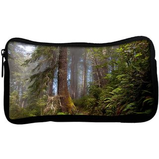 Forest Poly Canvas  Multi Utility Travel Pouch
