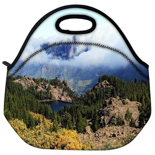 Cloudy Mountain Travel Outdoor Tote Lunch Bag