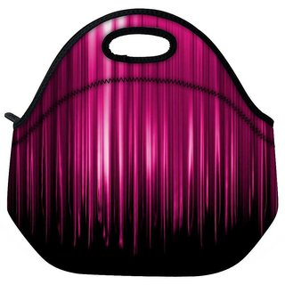 Pink Rays Falling Travel Outdoor Tote Lunch Bag