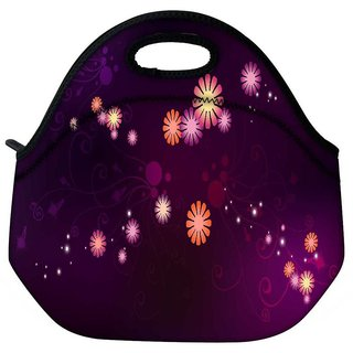 Abstract Small Flower Travel Outdoor Tote Lunch Bag