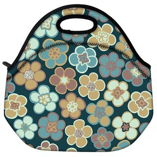 Seamless Floral Pattern Flowers Texture Daisy Travel Outdoor Tote Lunch Bag
