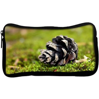 Black Flower Poly Canvas  Multi Utility Travel Pouch