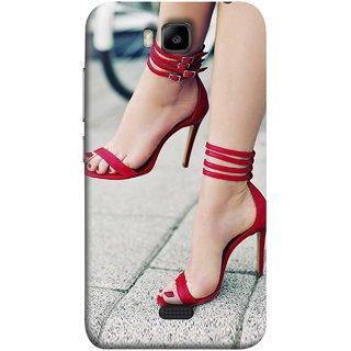 FUSON Designer Back Case Cover For Huawei Honor Bee :: Huawei Honor Bee Y5c (Sitting Wheels Design Red Nailpolish Womens Girls Females )