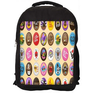 Funny Buttons Digital Art Digitally Printed Laptop Backpack
