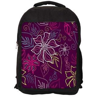 Floral Sketch Pink Digitally Printed Laptop Backpack