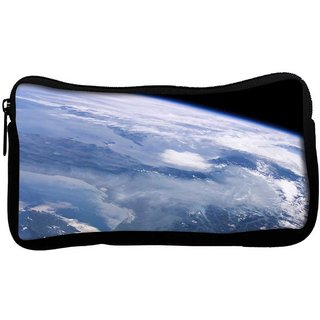 Satelite View Of Earth Poly Canvas  Multi Utility Travel Pouch