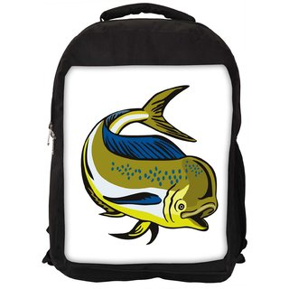Dorado Dolphin Fish Mahi Mahi Jumping Designer Laptop Backpacks