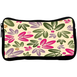 Multicolor Leaves Poly Canvas S Multi Utility Travel Pouch