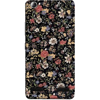 FUSON Designer Back Case Cover For Lenovo A6000 Plus :: Lenovo A6000+ :: Lenovo A6000 (Cotton Quilt Fabric Susie Butterfly Floral )